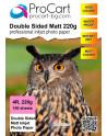 Двустранна фото хартия Double Sided Matte 220 10/15