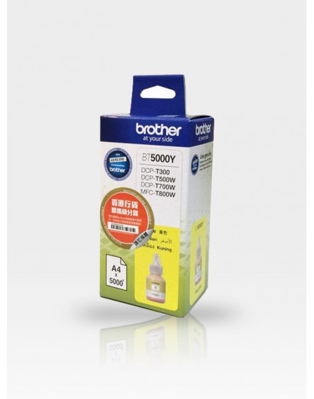 Мастило Brother BT5000Y Yellow (DCP-T300, DCP-T500W, DCP-T700W)