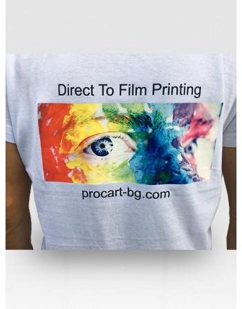 DTF печат върху памучна тениска